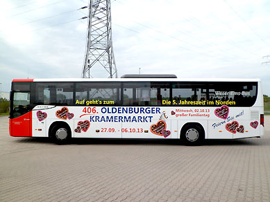 bus lkw beschriftungen fahrzeugbeschriftung villwock werbung aus oldenburg. Black Bedroom Furniture Sets. Home Design Ideas